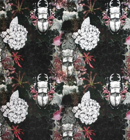 Dreamy Garden Velvet Fabric