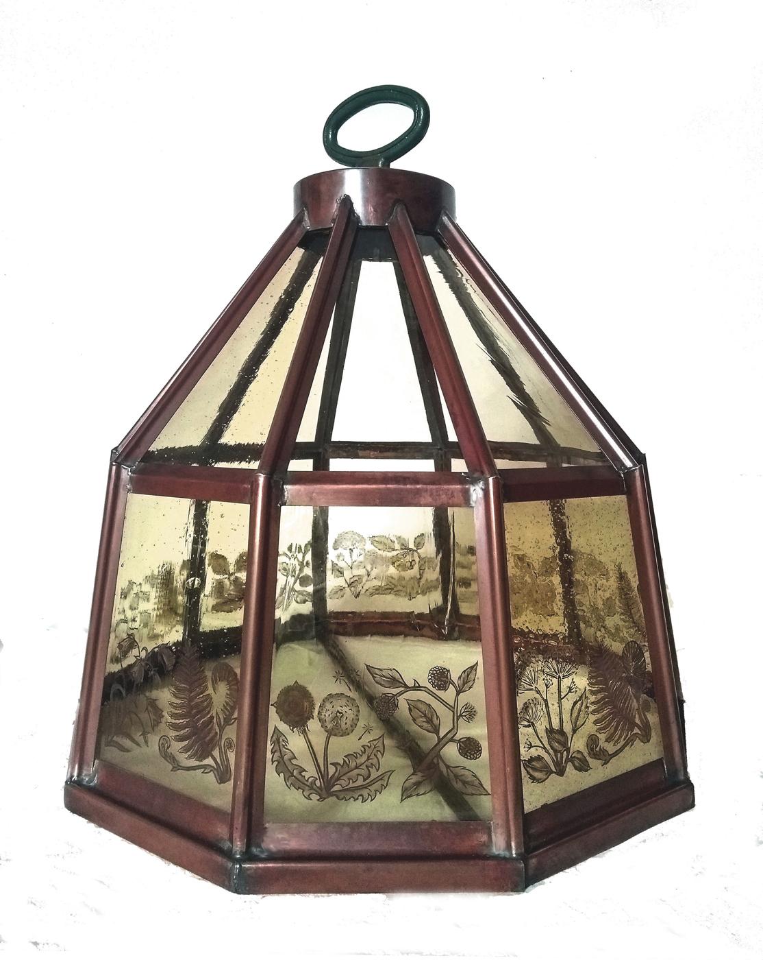 Hedgerow lantern in studio